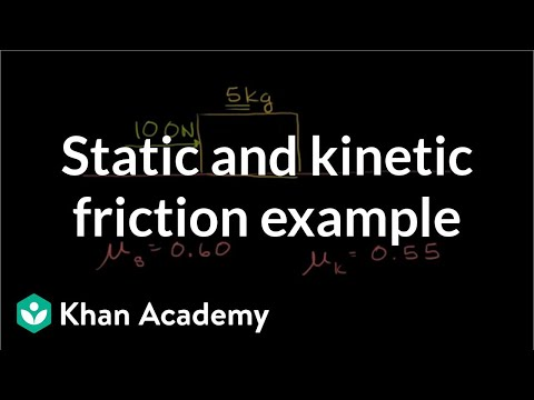 Static and kinetic friction example (video)   Khan Academy