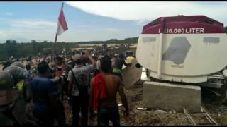 Video: Demo Pabrik Semen Pidie Ricuh