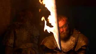 Arya Stark Saved By The Hound And Beric - Beric Death Scene - The Long Night - 4K Video Quality