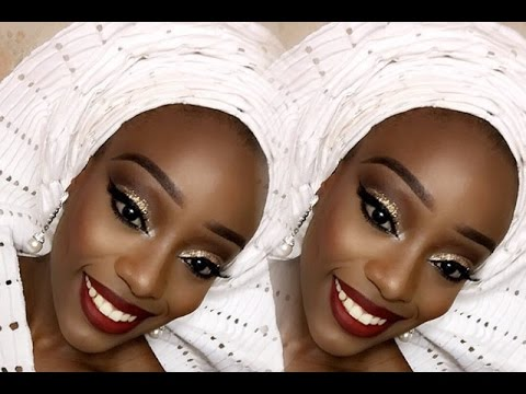 Nigerian Bride! Traditional Engagement Makeup & Gele!