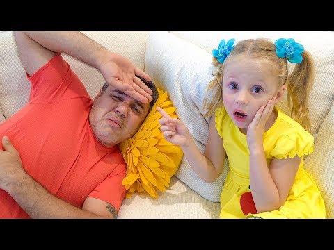 Песенка для детей про папу от Насти (видео)
