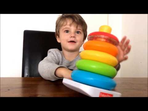 Fisher Price Farbring Pyramide | Learn Colors for Kids | Farben lernen auf englisch