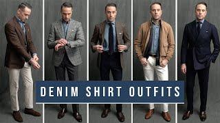 8 Ways To Wear A Denim Shirt | Denim Shirt Outfit Ideas