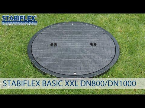 Schachtabdeckung STABIFLEX BASIC XXL DN 800 / DN 1000 Einbaufilm