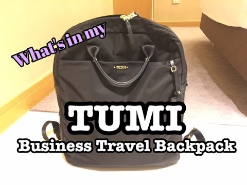 What's in my Business Travel Bag? // Review of Tumi Voyageur Ascot Convertible Backpack