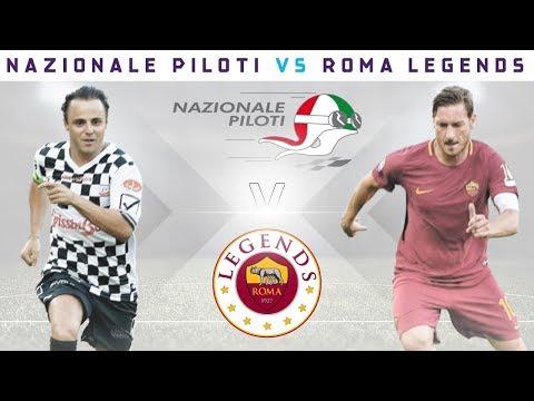 Totti vs Massa! Football Match - Formula E Drivers vs AS Roma Legends!