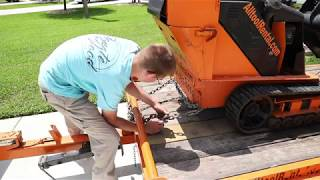 How to operate a Toro Dingo AND How to load it onto a trailer