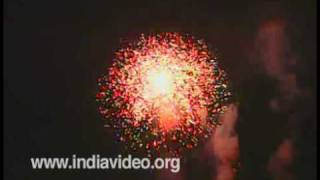 The fireworks of Thrissur pooram