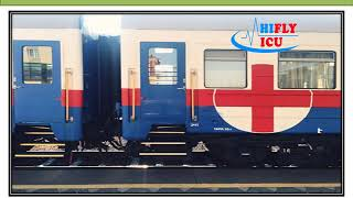 Hifly ICU Train Ambulance from Jabalpur to Delhi
