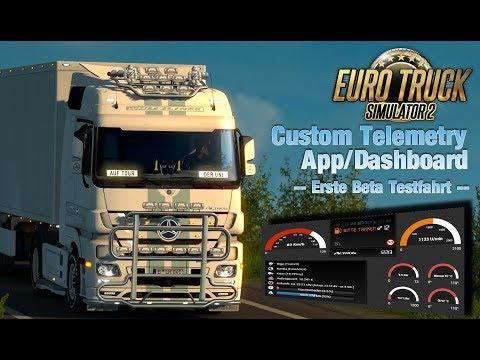 Euro Truck Simulator 2 - Custom Telemetry Dashboard