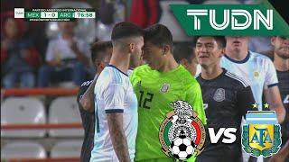 ¡Otra vez! ¡Se arma la bronca!   México  1 - 0 Argentina   Amistosos - Internacional   TUDN