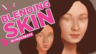 How to blend skin in Procreate | Sharing your artwork | Patreon and more!