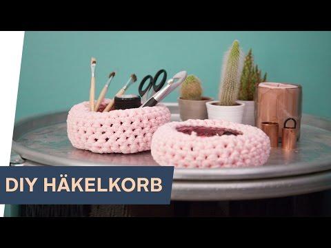 DIY Aufbewahrungskorb HÄKELN ~ refashion | OTTO