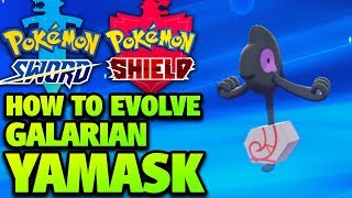 Yamask  - (Pokémon) - How to Evolve GALARIAN Yamask into Runerigus in Pokémon Sword and Shield (Galarian Cofagrigus)