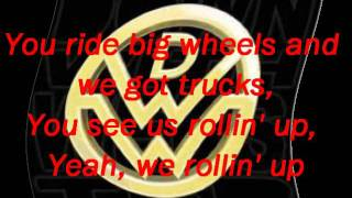 Down With Webster Big Wheels Lyrics (Clean Version)