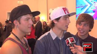 Emblem3 talks about crushes, shoe sizes and super hero names!
