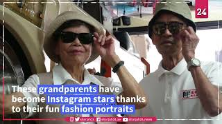 Taiwan grandparents become Instagram stars