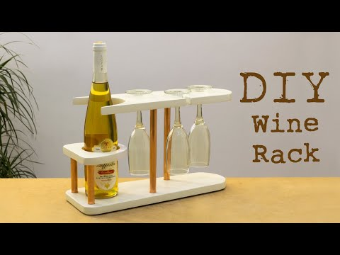 DIY Copper and Wood Wine Rack