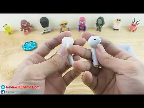 Trên tay tai nghe bluetooth giống Airpods của Apple 96.69% (i7s)