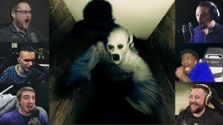 """Реакции Летсплейщиков"" на Призрака в Подвале из The Beast Inside Demo"