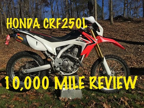 HONDA CRF250L 10,000 MILE REVIEW 10K Dual Sport Motorcycle FMF CRF 250L