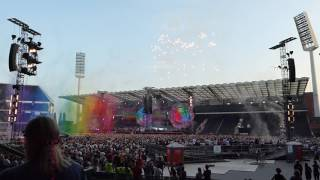 Coldplay - Intro & A Head Full of Dreams & Yellow @ Stade Roi-Baudouin, Brussels 21/06/2017