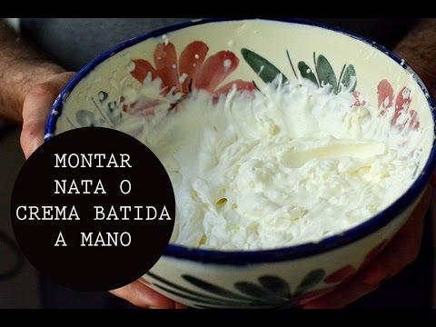 MONTAR NATA O CREMA BATIDA A MANO | COOKING TIP  | Las María Cocinillas