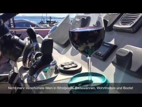 Weinglas-Halter für Boote, Whirlpools und Badewannen