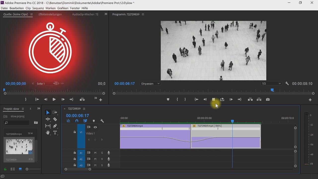 Slow Motion / Zeitlupe erstellen (3 einfache Effekte) – Premiere-Pro-Tutorial