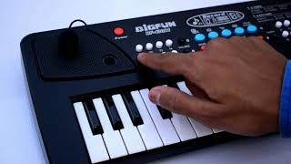 Toykart 37 Key Piano Keyboard Toy with DC Power Option, Recording and Mic
