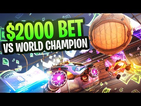 $2,000 1v1 Vs. WORLD CHAMP SQUISHYMUFFINZ - CIZZORZ ROCKET LEAGUE WAGER