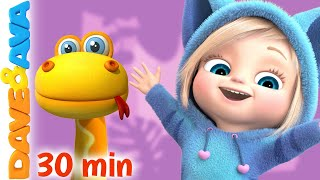 🏝 Down in the Jungle and More Nursery Rhymes and Kids Songs   Dave and Ava 🏝
