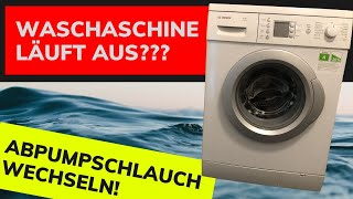 Waschmaschine undicht - Abpumpschlauch wechseln