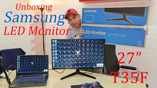 "LED Monitor Samsung 27"" - Unboxing"