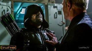 Флэш спасает Стрелу от Дэмиена Дарка