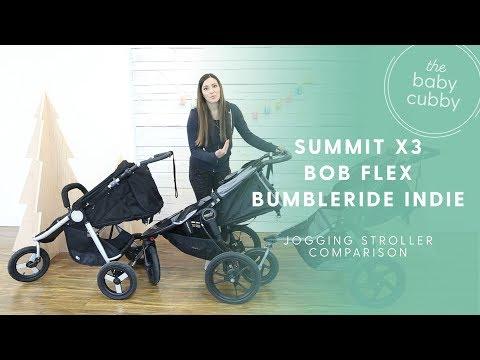 Jogging Stroller Comparison: Baby Jogger Summit X3, BOB Revolution Flex, Bumbleride Indie