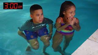 Kids GO SWIMMING at 3AM, Something SCARY Happens   FamousTubeFamily