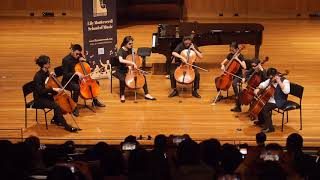 Our cello ensemble performed 'Mission Impossible' which was edited by Verdy Guo. Thank you f