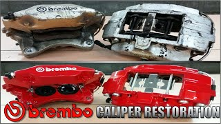 25 Year Old Brembo Brake Caliper Restoration / Rebuild