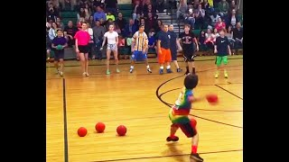 he beat the entire dodgeball team in 10 seconds..