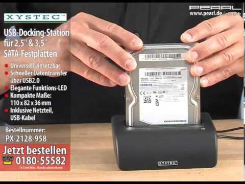 """USB-Docking-Station für 2,5"""" & 3,5"""" SATA-Festplatten"""