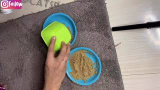Kitten care : how to crushed dried food for fast growth n weight gain | kitten food recipe | kitten