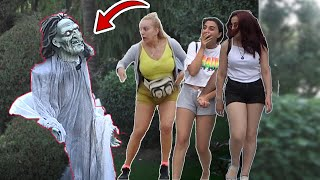 SCARY HALLOWEEN GHOST PRANK #2 👻 - AWESOME REACTIONS -  Best of Just For Laughs