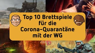Top 10 Brettspiele für die Corona-Quarantäne mit der WG