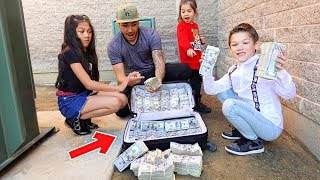WE FOUND 1 MILLION DOLLARS PRANK ON KIDS | Familia Diamond