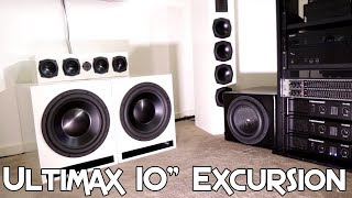 "DAYTON ULTIMAX 10"" SUBWOOFER EXCURSION!"