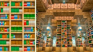 I Fixed Bookshelves in Minecraft & Made an Epic Library