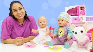 Baby Born Emily bekommt Besuch von Leo. Puppen Video auf Deutsch