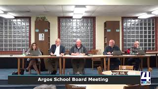 Argos School Board Meeting - April 2018