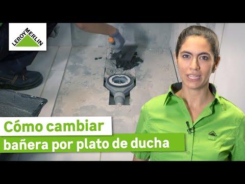 Cómo cambiar bañera por plato de ducha sin obra (Leroy Merlin)
